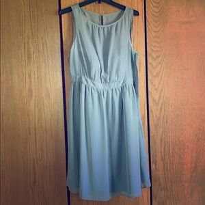 Gray chiffon dress